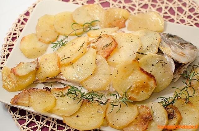 Orata al forno con patate