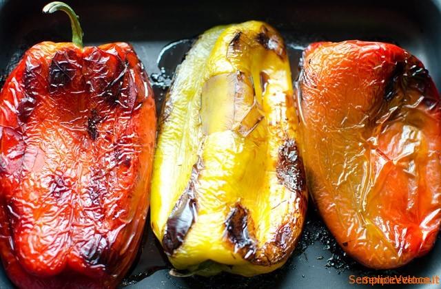 Peperoni in padella con pangrattato