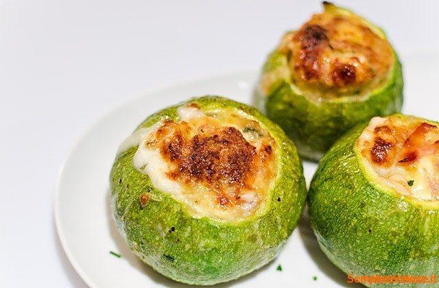 Zucchine tonde ripiene ricetta semplice e veloce for Cucinare zucchine tonde