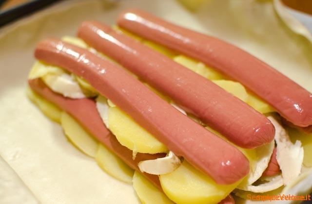 Strudel patate e wurstel
