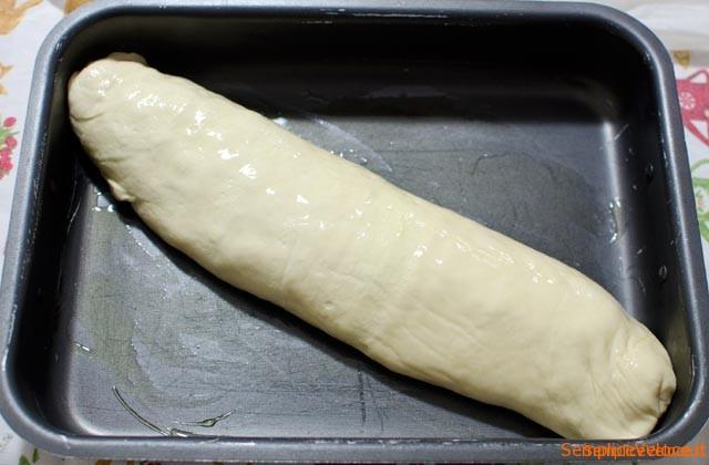 Rotolo di pizza con scarola