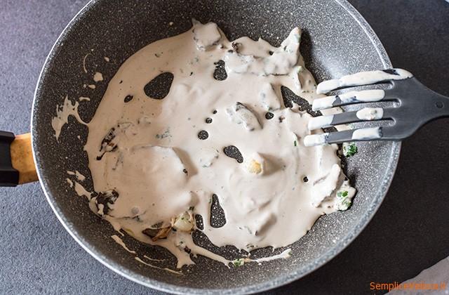 Pasta funghi e panna
