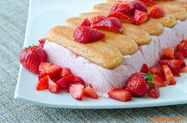 Semifreddo fragole e yogurt
