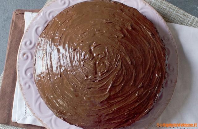 Torta all'arancia ricoperta al cioccolato