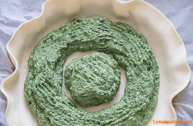 Torta fiore con ricotta e spinaci