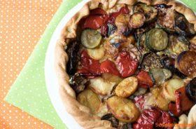 Torta salata con briseè fatta in casa e verdure