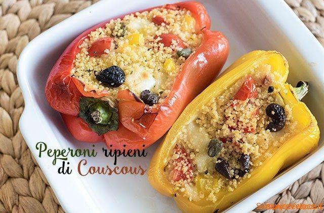 Peperoni ripieni di couscous ricetta semplice e veloce for Cucina veloce e semplice