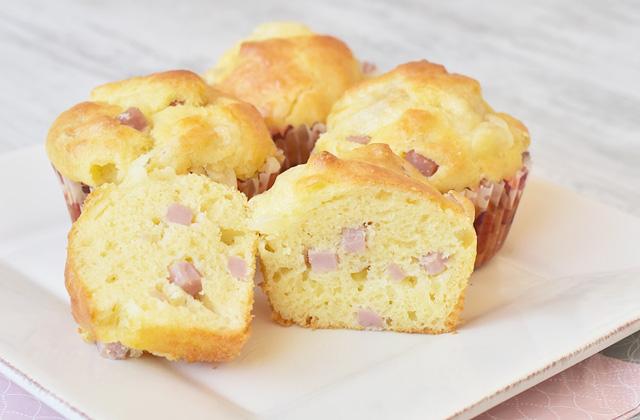 Muffins salati al prosciutto