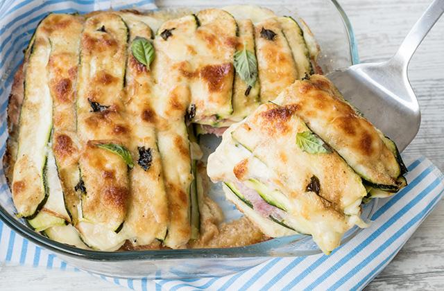 Parmigiana Bianca di Zucchine (zucchine a crudo)