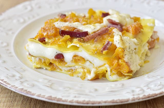 Lasagna zucca e speck